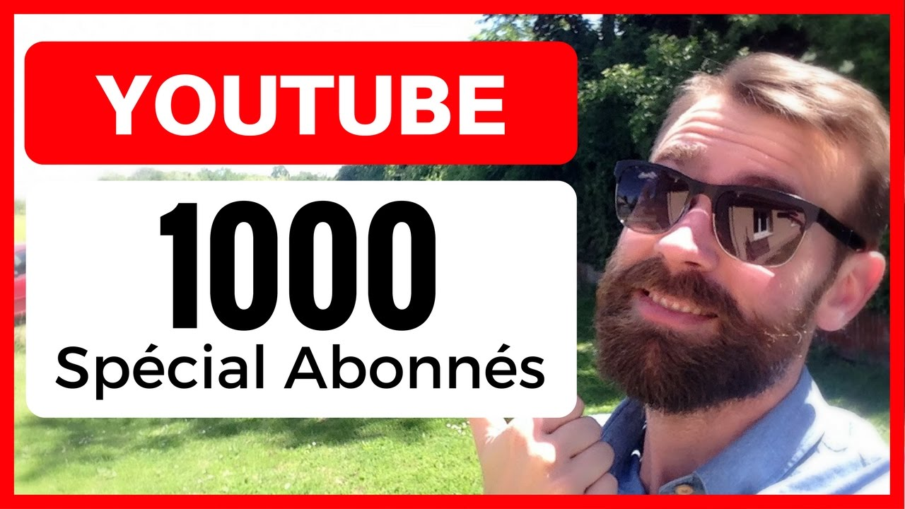 1000 abonn s sur youtube ca se f te je cree mon activite. Black Bedroom Furniture Sets. Home Design Ideas